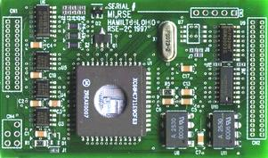 [Photo of the Front Side of our rse-2c micro-controller card]